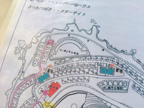 赤礁崎オートキャンプ場 サイト図