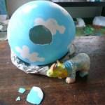 ☆恐竜の卵☆恐竜ではなくてサイが出てきちゃいました。