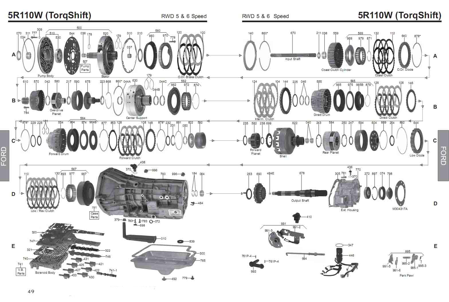 Transmission Repair Manuals 5r110w