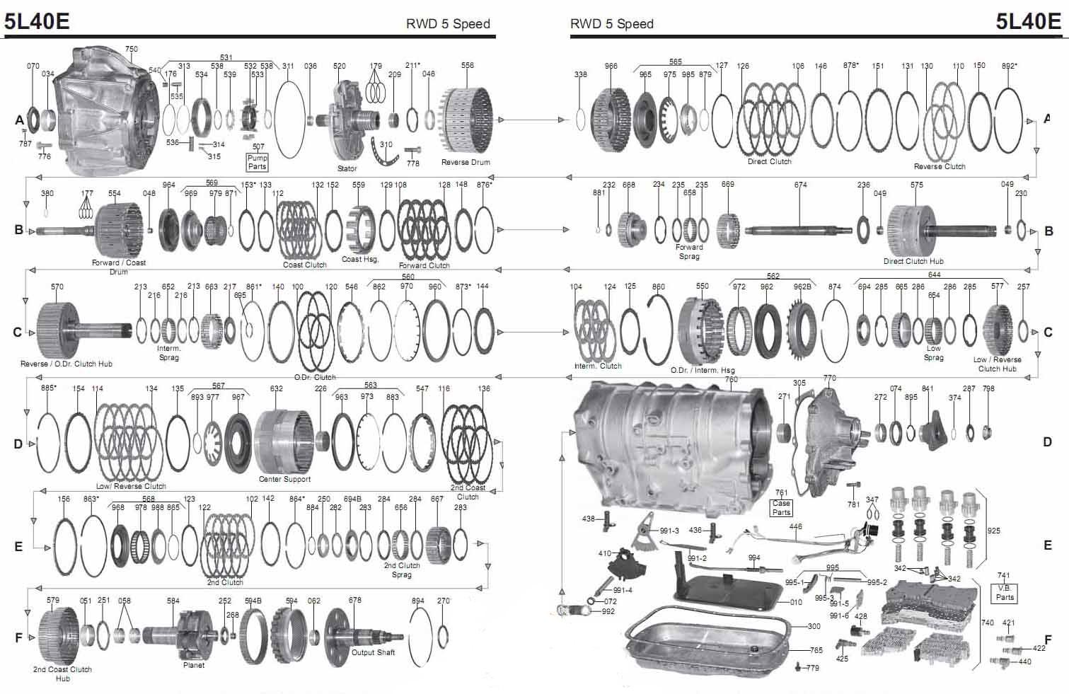 Transmission Repair Manuals 4l40e 5l40 Bmw 3 Series