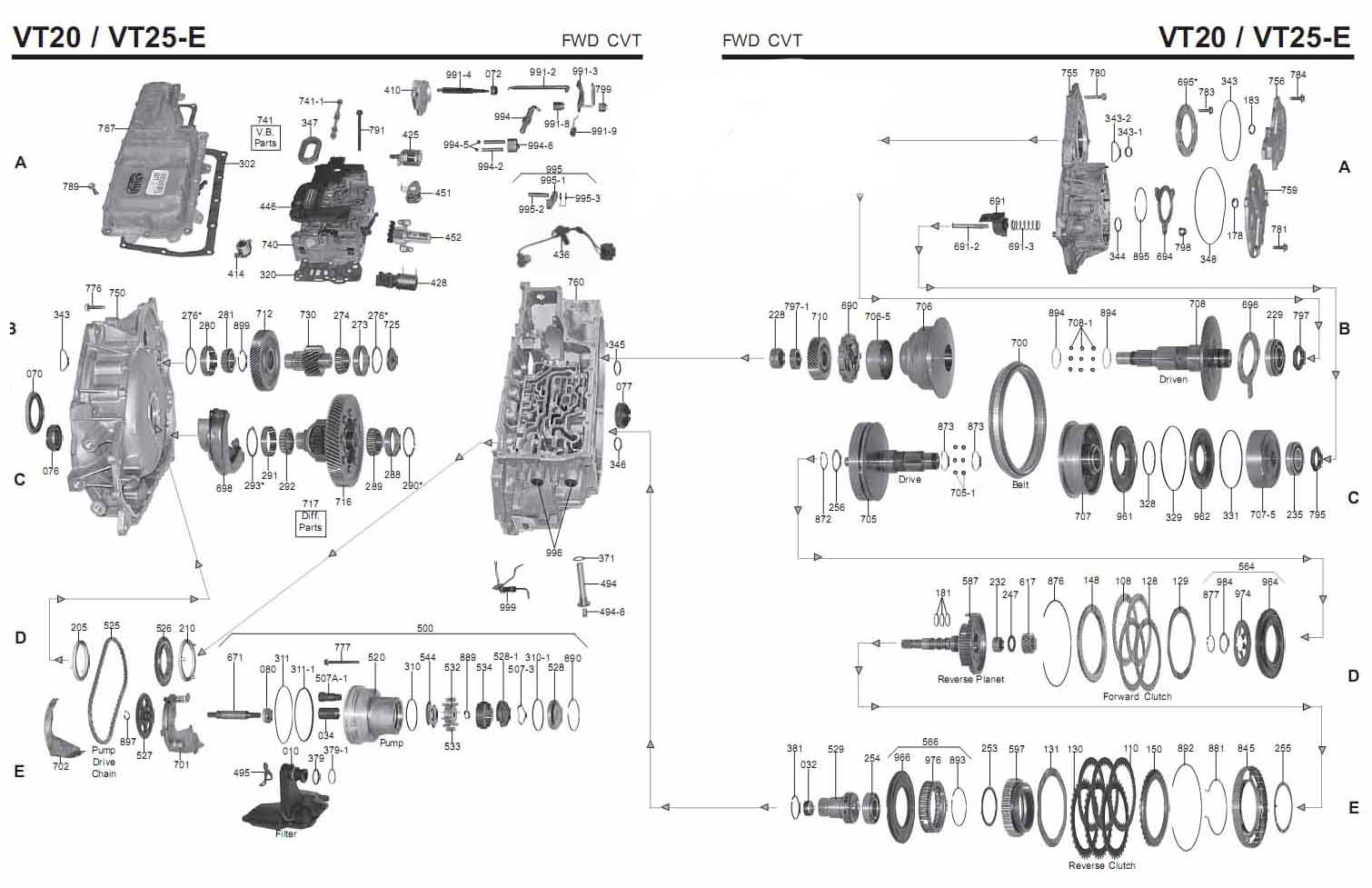 Transmission Repair Manuals Gm Vt25e Saturn