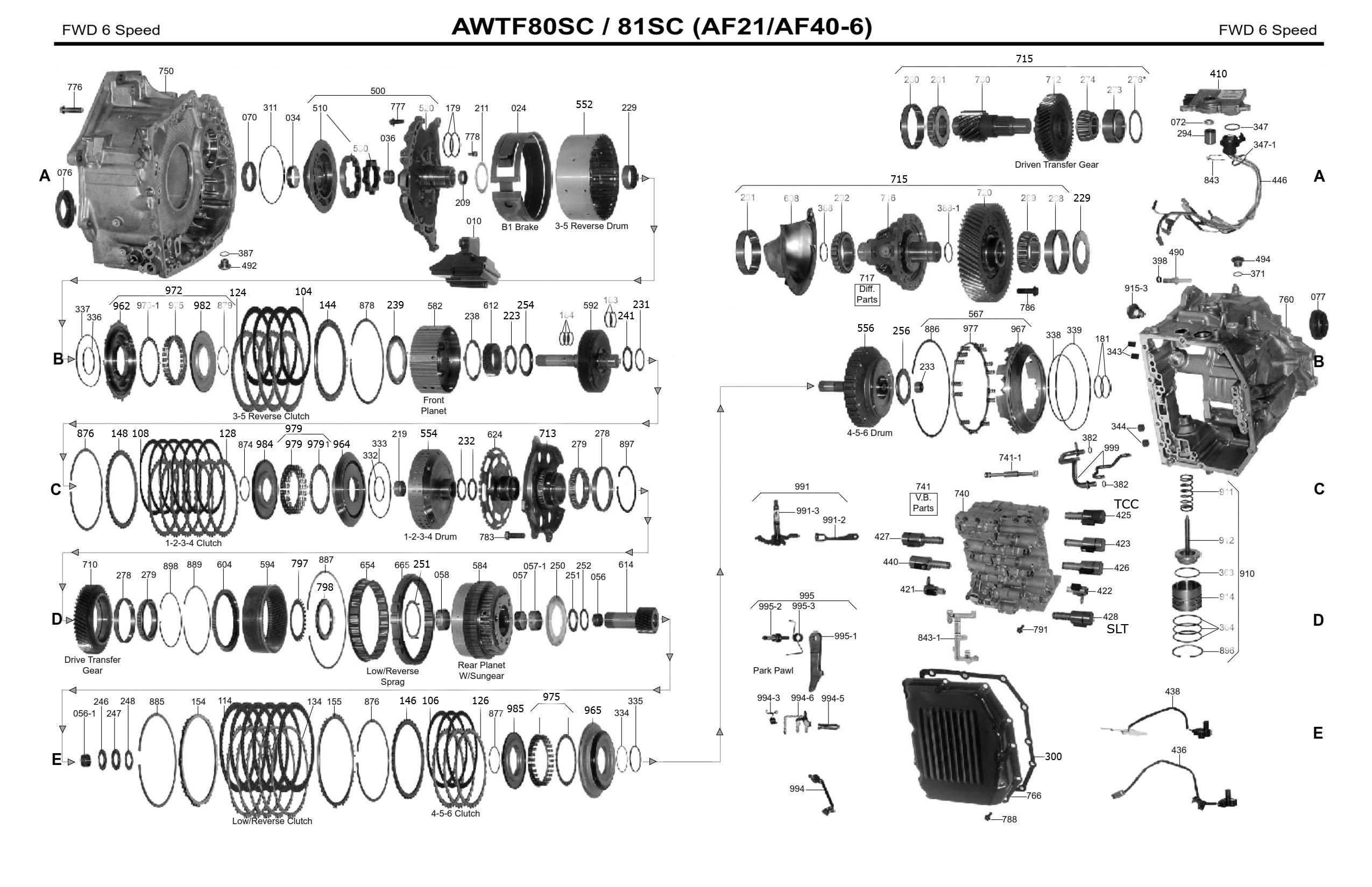 Transmission Repair Manuals Aw Tf 80sc 81sc