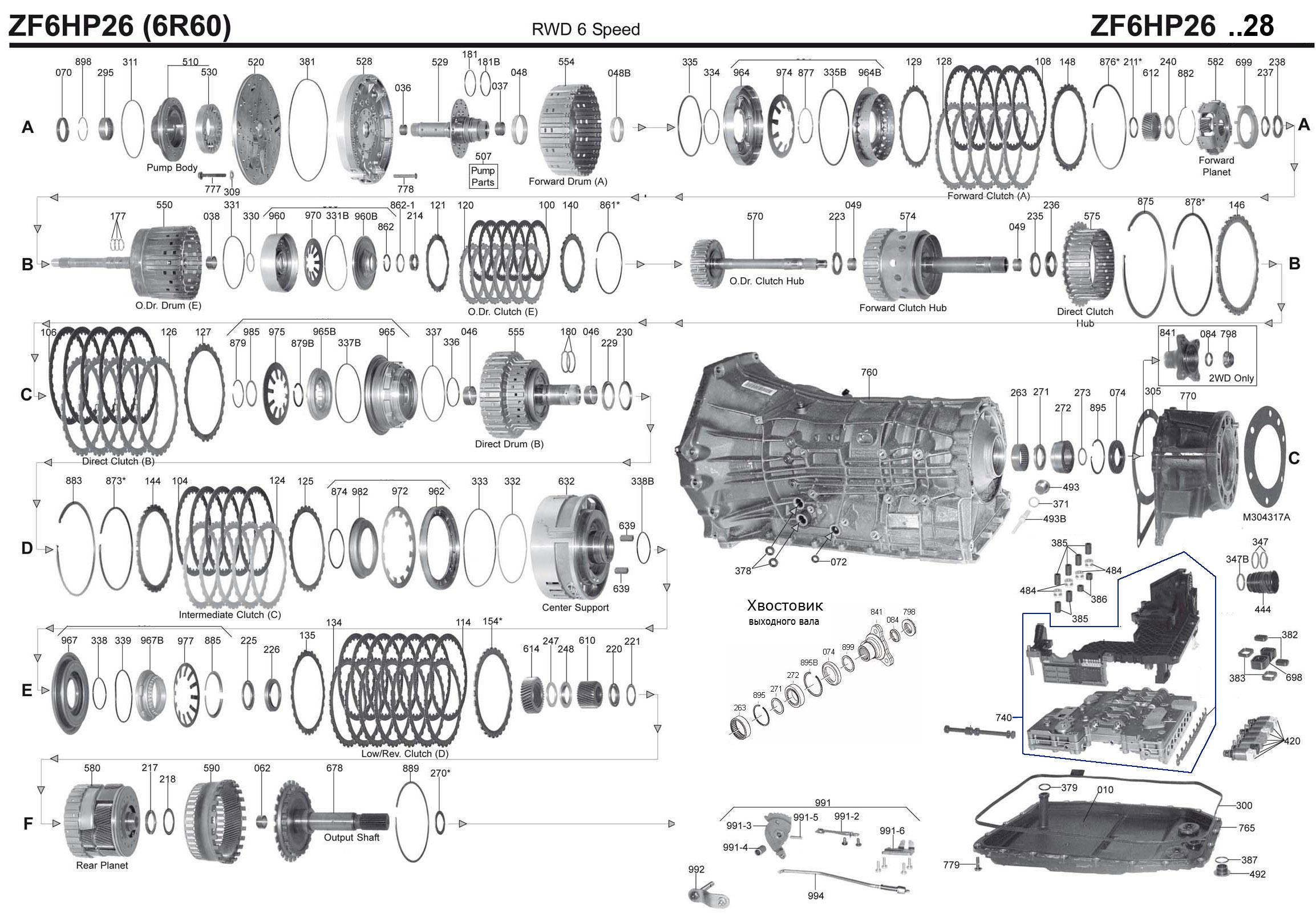 Transmission Repair Manuals Zf 6hp26 28 32