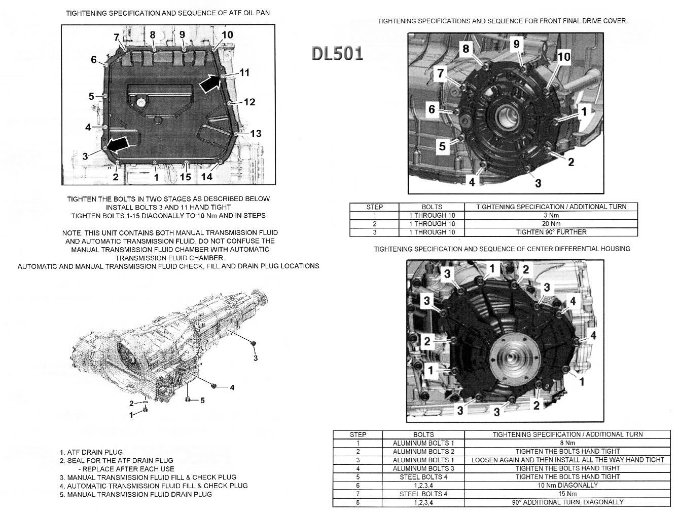 Transmission Repair Manuals Dsg 7 Dl501 0b5 S Tronic
