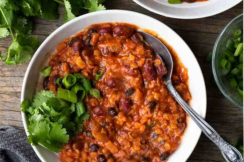 Quick One-pot Vegan Chili Recipe, Stovetop