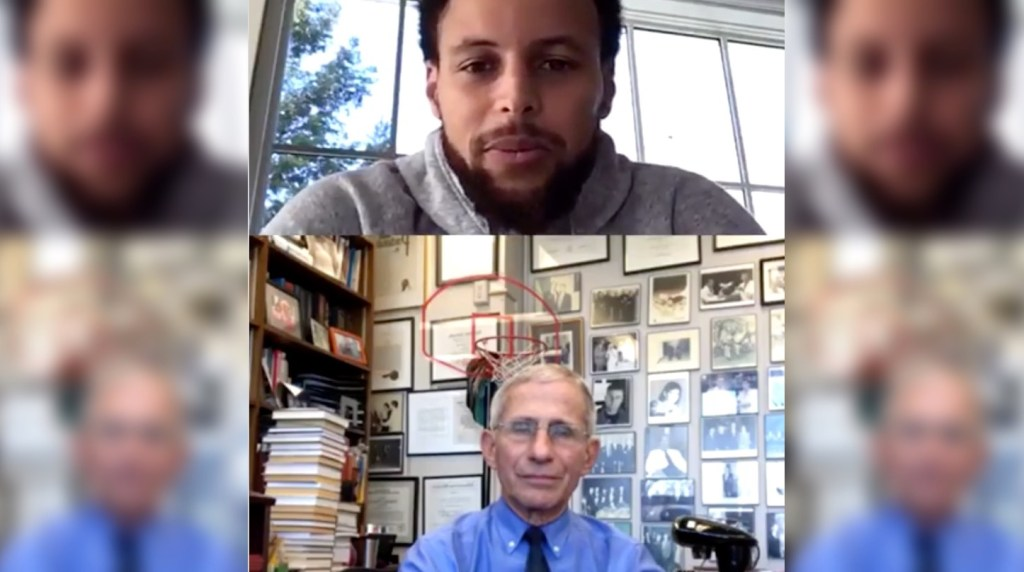 Stephen Curry Talks to Dr. Anthony Fauci About When Sports Will Be Able to Reconvene