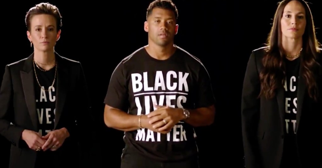 ESPYS Hosts Megan Rapinoe, Russell Wilson, and Sue Bird Begin Show With Call to Action to End Systemic Racism