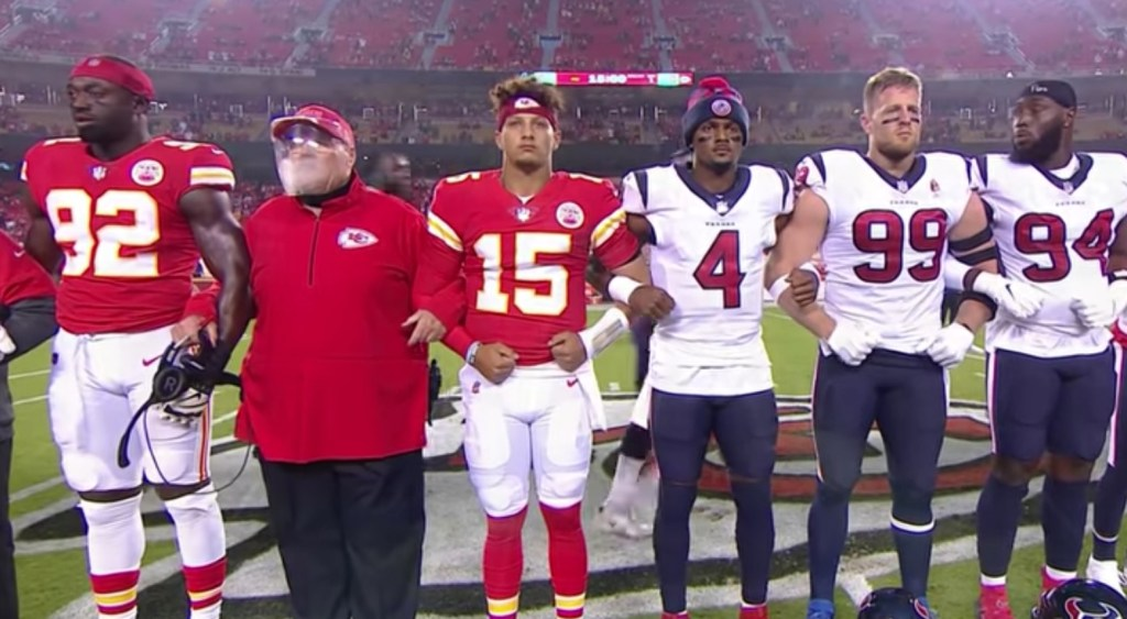 Twitter Is Disgusted With How Kansas City Chiefs Fans Reacted During Players' Show of Unity Before First NFL Game