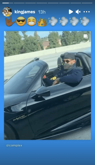 LeBron Caught Cruisin' On A LA Highway In Rare, Limited-Edition Convertible – LeBron James drove to the basket multiple times in the bubble and was recently seen literally driving on a highway road in LA in a rare, fast convertible.