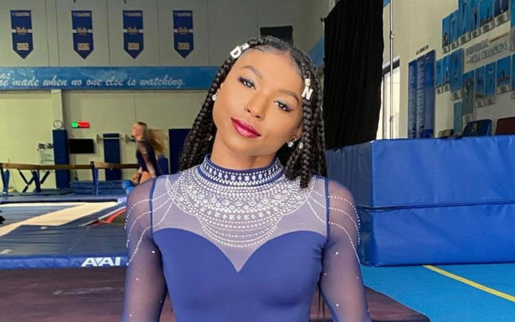 Simone Biles Gives Shout Out To UCLA Gymnast Nia Dennis After Season Opener Clinching Floor Exercise Routine Win