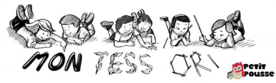 Ecole Montessor illustration d'enfants