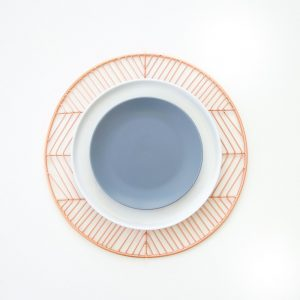 Atabletolove, set of dinner plates for sale, copper charger, grey and black dinner plates