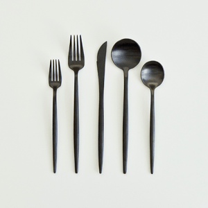 A Table to Love, Black flatware, buy black silverware or rent