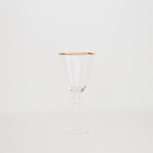 A Table to Love, Clear glassware with gold rim, buy stemware