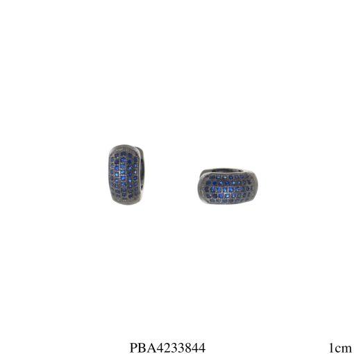 Argola micro zircônia azul P-0