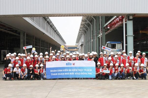 Sinh viên Đại học Kiến trúc tham quan nhà máy ATAD Đồng Nai