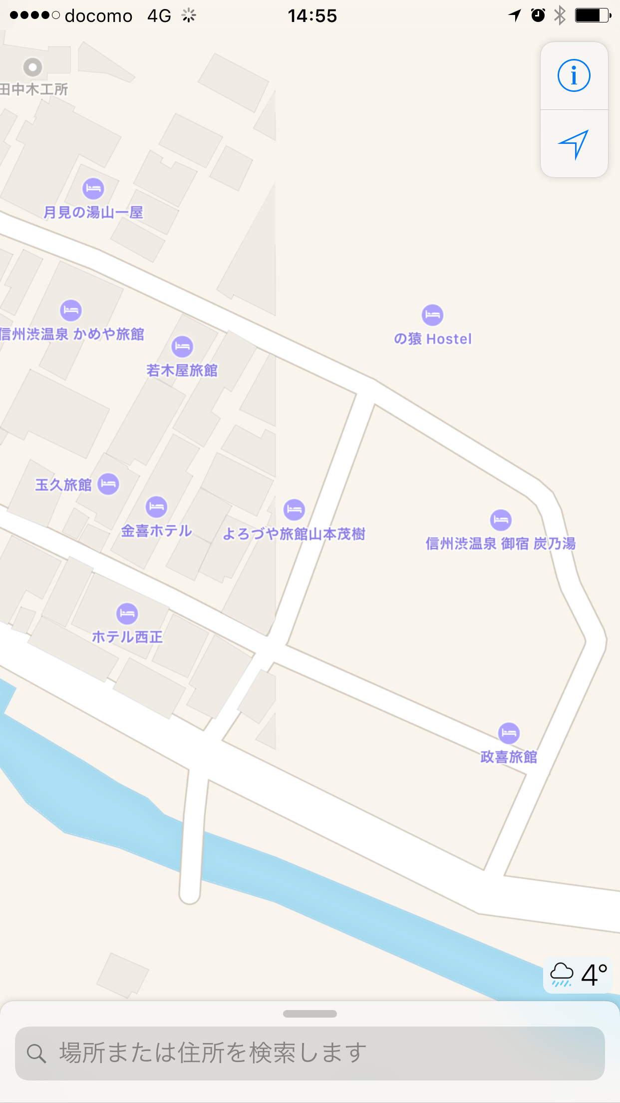 The Great Shibu Hot Spring Cut Off Apple Maps