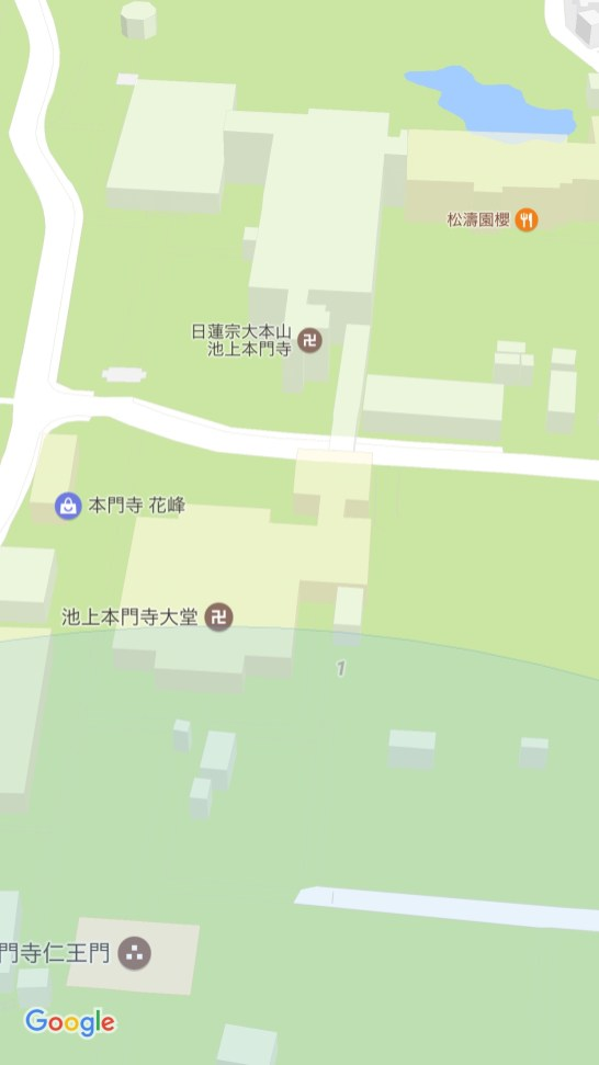 Google 3D map of Ikegami Honmonji Temple