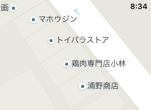 Yahoo Japan Map detail of north Asagaya