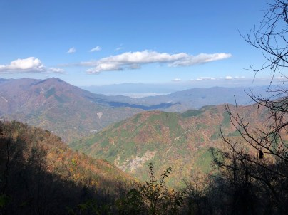 View of Mt. Minobu from Mt Shichimen