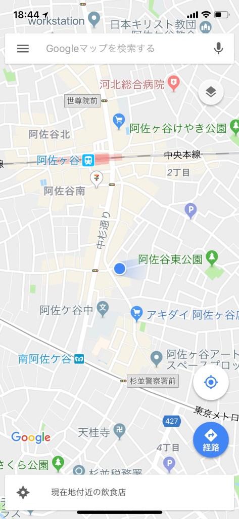 Google Maps default view