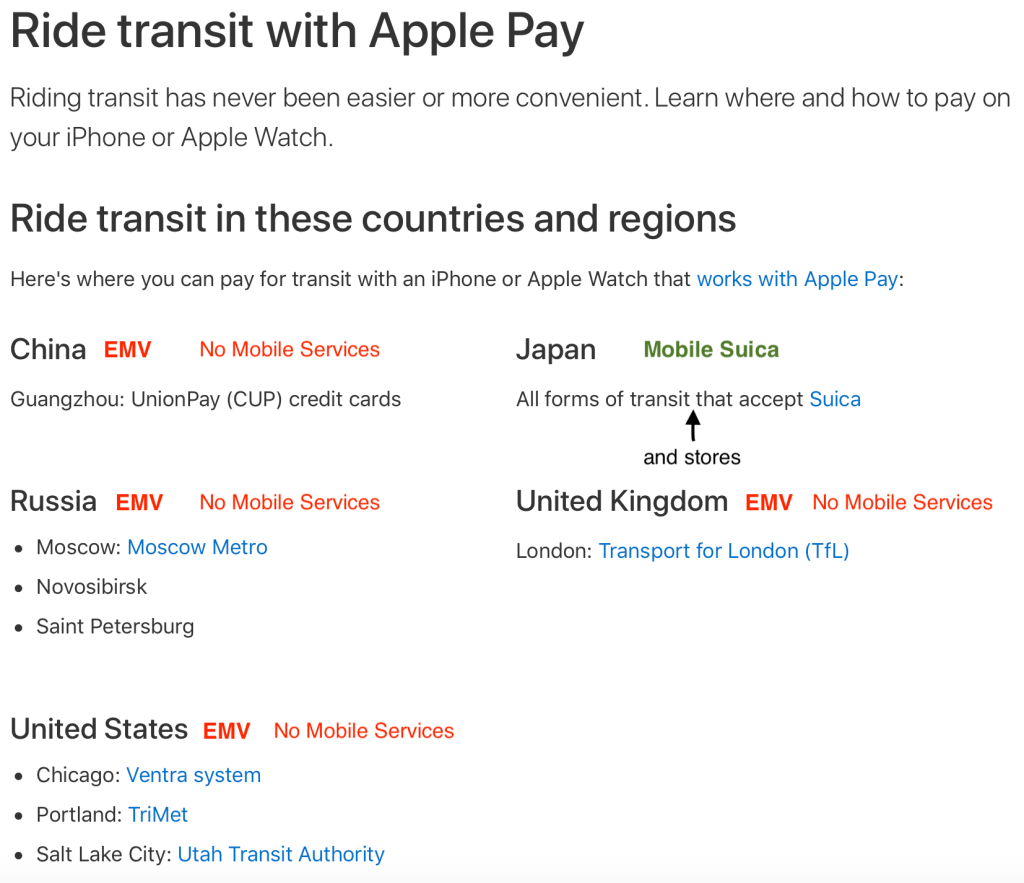 Apple Pay Transit