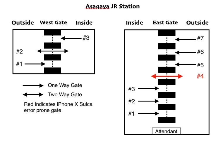 Asagaya iPHone X Error Map 2