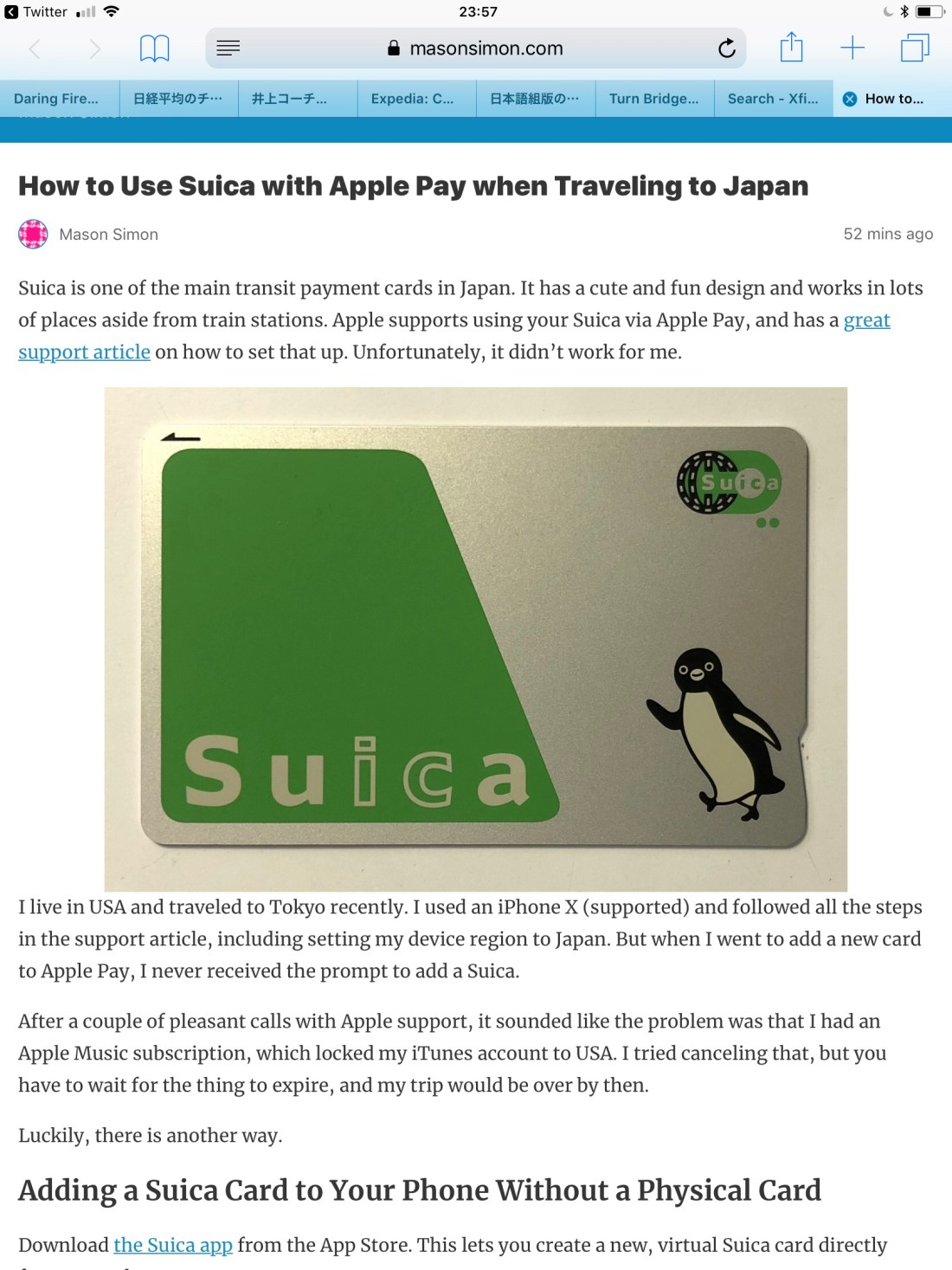 How to use Suica with Apple Pay