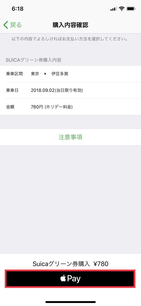 Confirm and tap Apple Pay to purchase