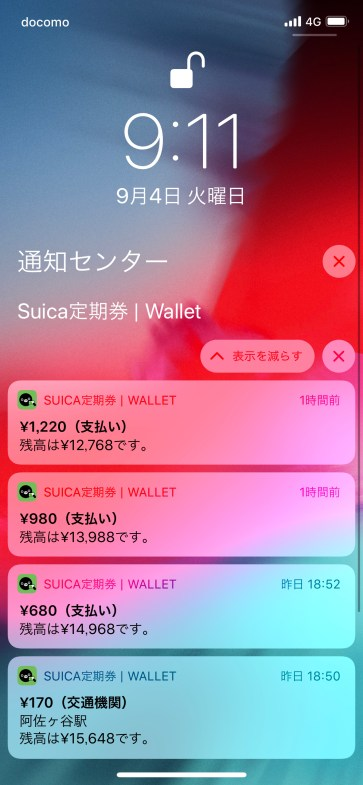iOS 12 Wallet Notifications