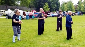 Shifu Victor leads a Tai-Chi Class at the Cherry Park Festival