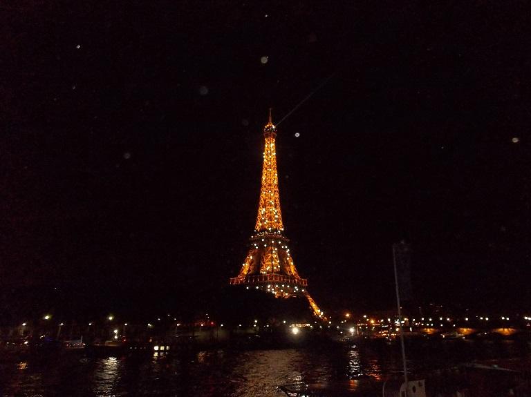 Eiffel Tower at night, Paris 2014