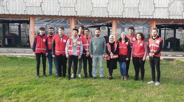 Rehabilitasyon Merkezine 'Genç Kızılay' kulübünden ziyaret..