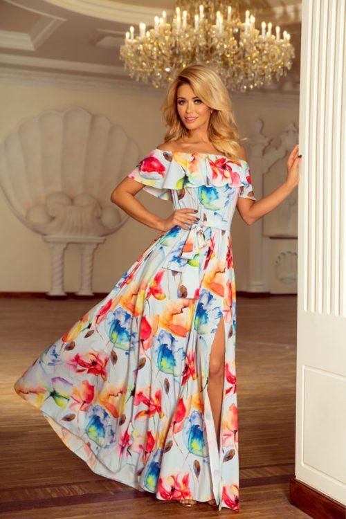 dluga-suknia-z-hiszpanska falbanka