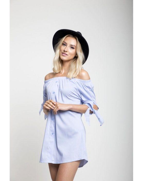 Koszula hiszpanka wiązan niebieska