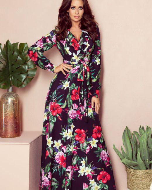 sukienka maxi-z-falbanka dlugim rekawem atalantastyle 3