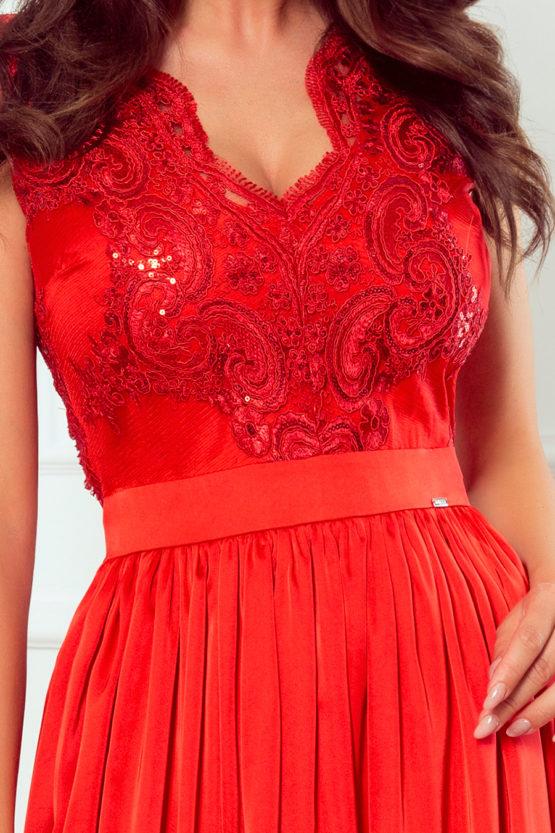 Dluga suknia z haftowanym dekoltem maxi atalantastyle 3