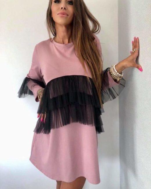 Sukienka z falbana atalntastyle