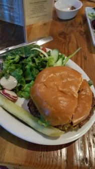 Veggie burger yum! Very good flavor!!