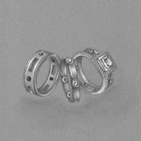 Wedding Ring Trio by Joana Miranda