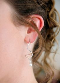 Closeup of Earrings on the Bride