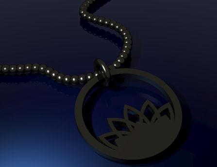 CAD rendering for Lotus Pendant Idea by Joana Miranda