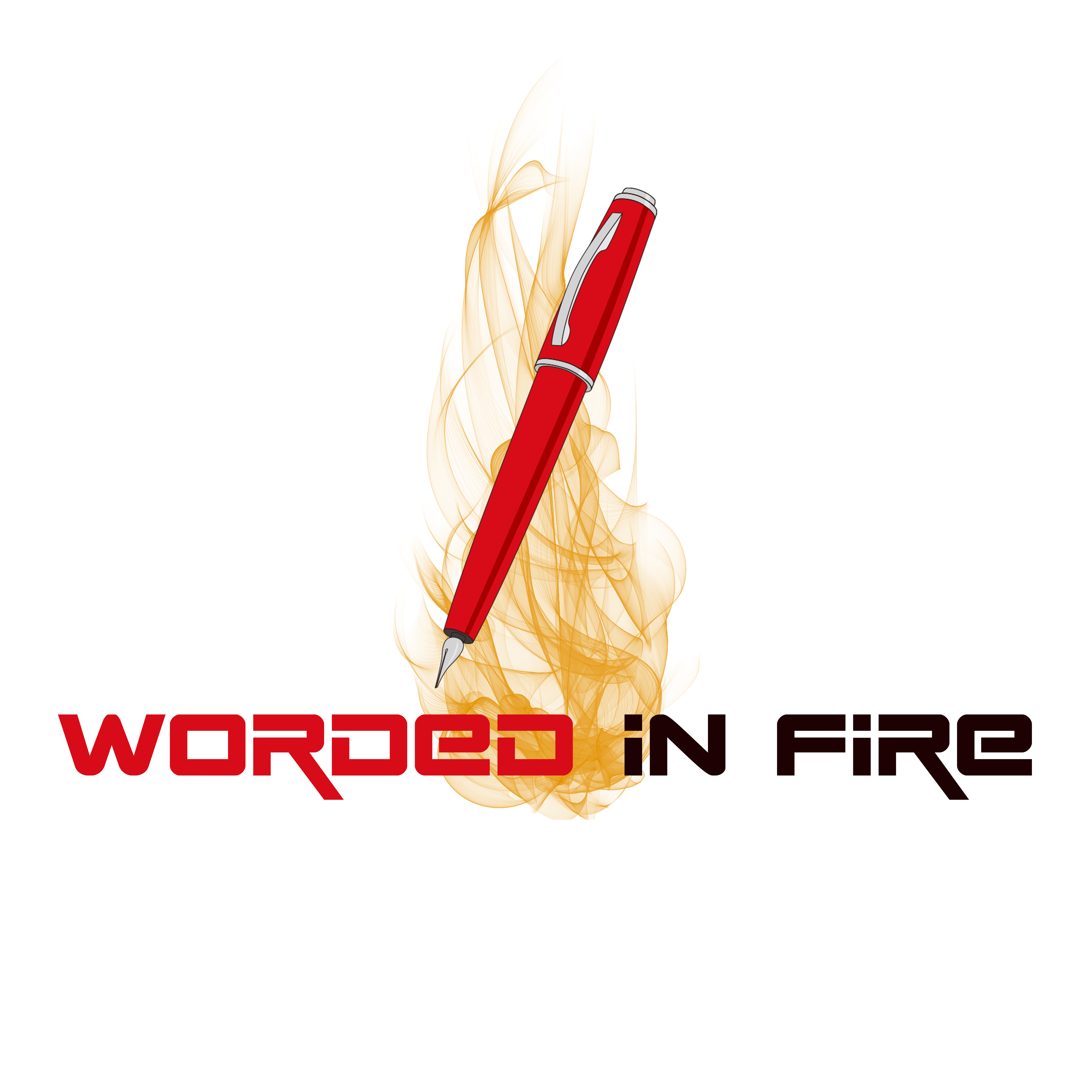 Worded In Fire Logo