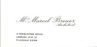 Breuer névjegy előlap
