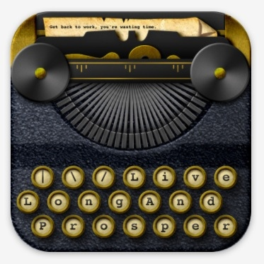 Blogsy app icon of an old fashioned typewriter