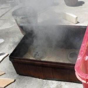 enfumage des pièces dans la malle poterie -atap aubagne