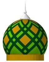 kubah, motif, bentuk, bawang, lampion, bengkuang, labu, warna, cat, hijau, kuning, bahan, merk
