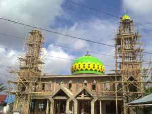 harga, kubah, masjid, enamel, zincalume, powdercoating, atap, konstruksi
