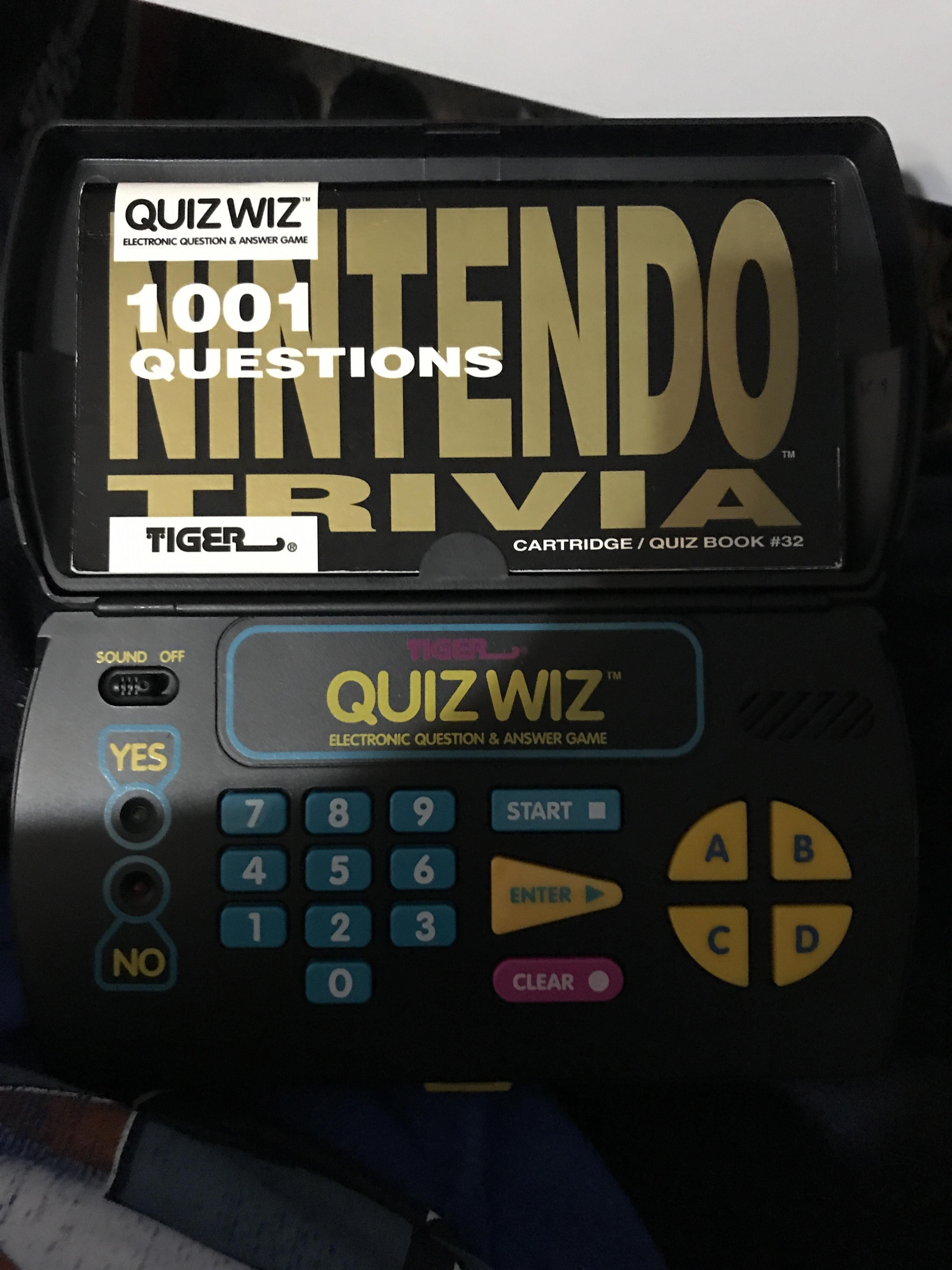 Tiger Quiz Wiz With Nintendo Trivia