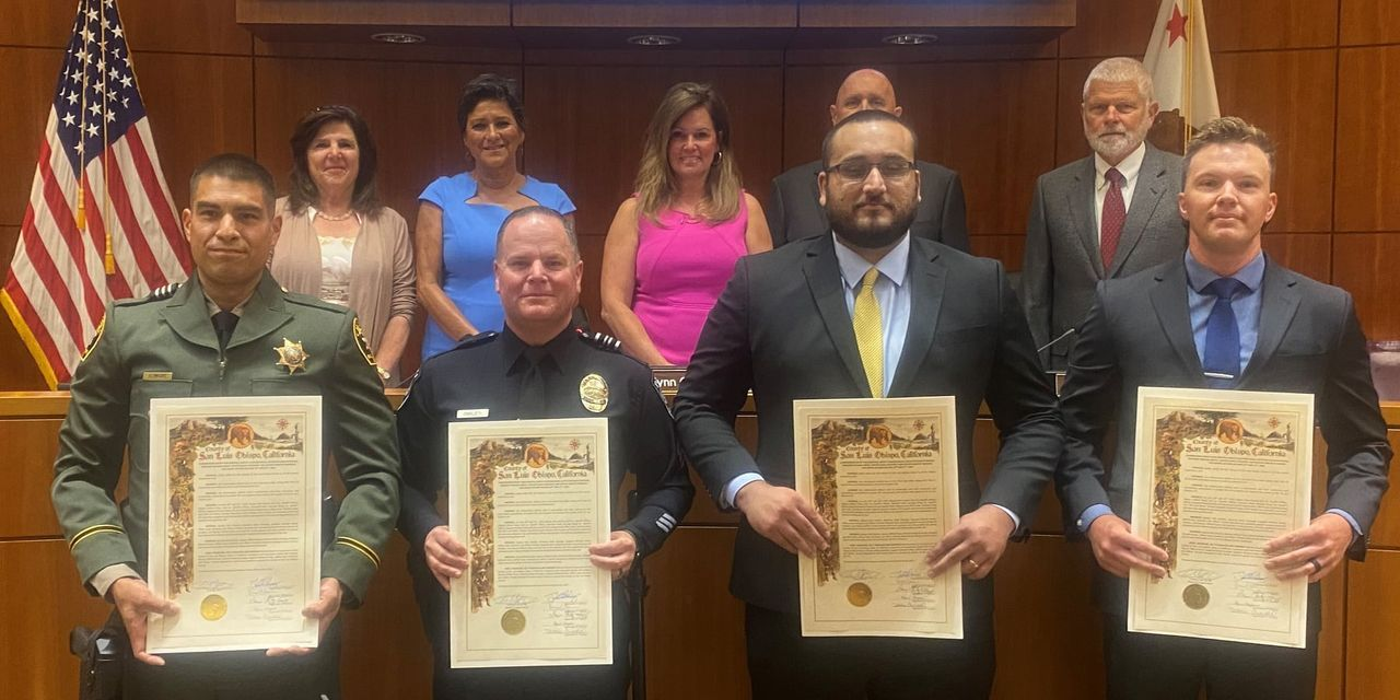 SLO County Supervisors Commendation for Heroic Actions From June 2020